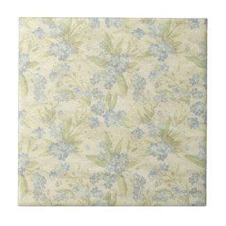 Le textile floral vintage confortable m'oublient carreau