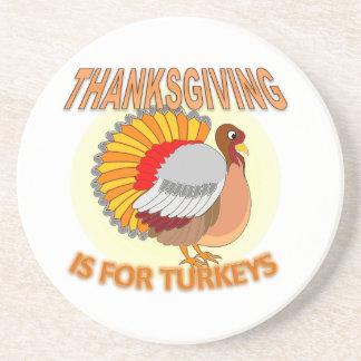Le thanksgiving est pour des dindes dessous de verre en grès