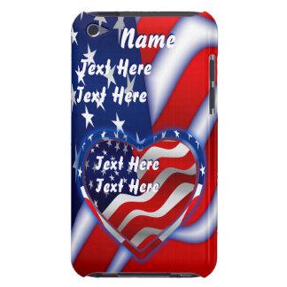 Le thème patriotique important voient des notes étui iPod touch
