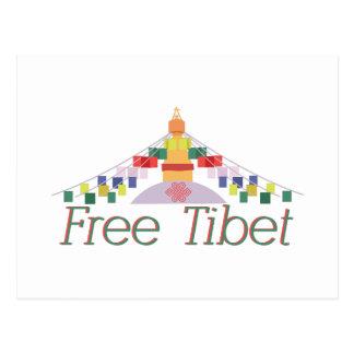 Le Thibet libre Carte Postale