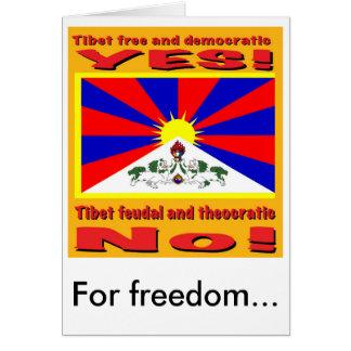 Le Thibet libre et démocratique, pour la liberté… Carte