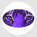 Le tigre pourpre observe le jGibney Le MUSÉE Autocollants Ronds