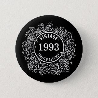 Le timbre blanc vintage de vin de vigne, ajoutent badge rond 5 cm