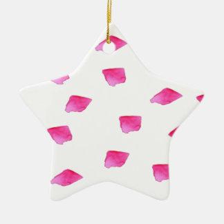 Le traçage rose de très bon goût barre l'aquarelle ornement étoile en céramique