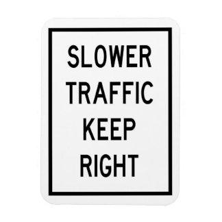 Le trafic plus lent gardent l'aimant droit de magnets rectangulaire