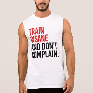 Le train aliéné et ne se plaignent pas t-shirt sans manches