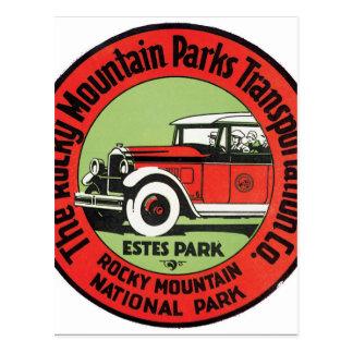 Le transport Cie. de montagne rocheuse Cartes Postales