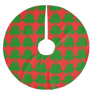 Le trèfle de Quatre-Feuille pour la jupe d'arbre Jupon De Sapin En Polyester Brossé