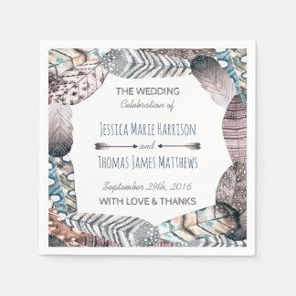 Le tribal moderne fait varier le pas du mariage de serviette jetable