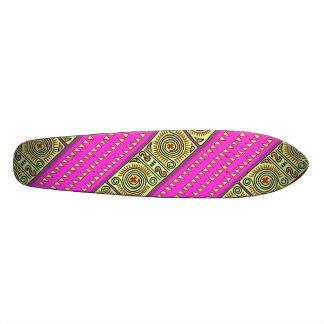 Le tribal rose de Quenacho a conçu la plate-forme Skateboard 21,6 Cm