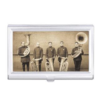 Le tuba vintage attrape les années 1900 de la boîtiers pour cartes de visite