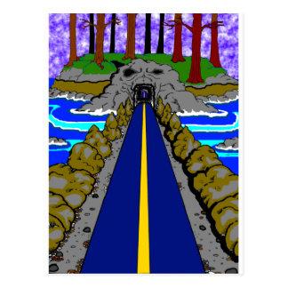 le tunnel carte postale