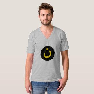 Le V - la pièce en t des hommes arabes de cou T-shirt
