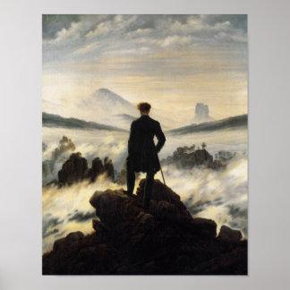 Le vagabond au-dessus de la mer du brouillard