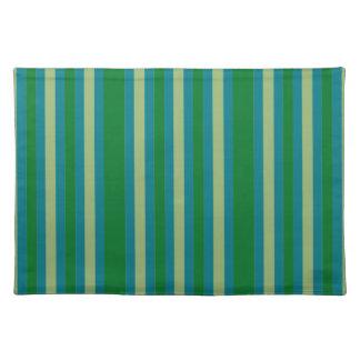 Le vert bleu satisfaisant barre des sets de table