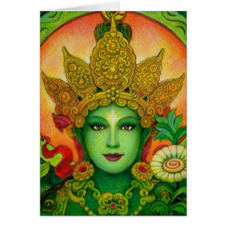 Le vert bouddhiste tibétain Tara de déesse font Carte