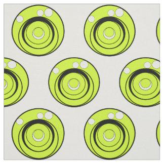 Le vert de chaux, les cercles noirs et blancs a tissu