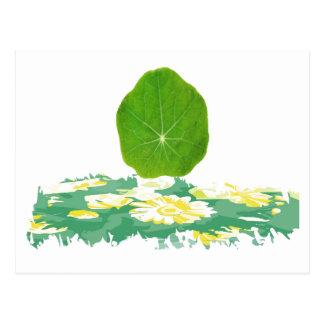 Le vert de soutien, sauvent la planète carte postale