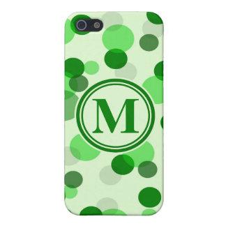 Le vert personnalisable repère le monogramme coques iPhone 5