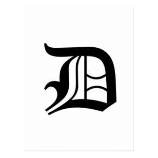 Le vieil anglais de D-texte Carte Postale