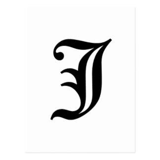 Le vieil anglais de J-texte Carte Postale
