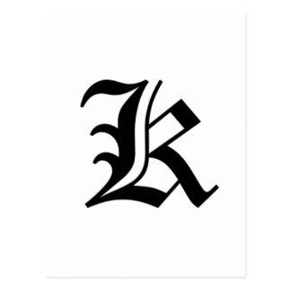 Le vieil anglais de K-texte Cartes Postales
