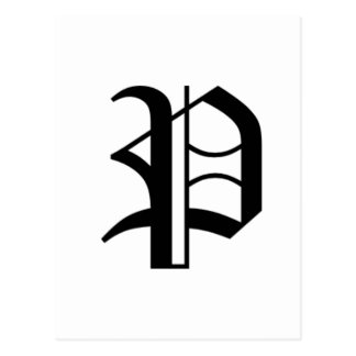 Le vieil anglais de P-texte Carte Postale