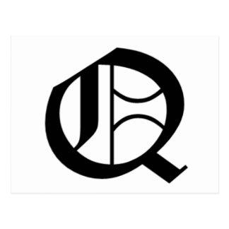 Le vieil anglais de Q-texte Cartes Postales