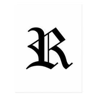 Le vieil anglais de R-texte Carte Postale