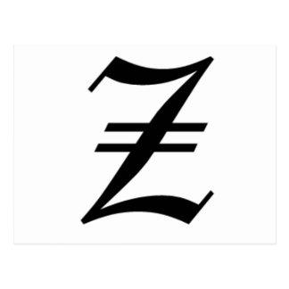Le vieil anglais de Z-texte Cartes Postales