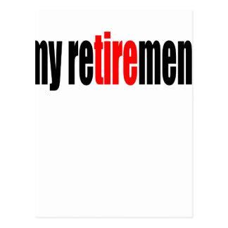 le vieux jour de pension retiré par retraite cartes postales