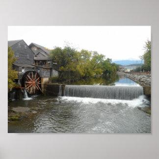 Le vieux moulin poster
