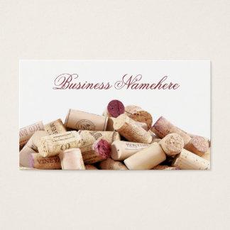 Le vin bouche des cartes de visite
