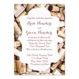 Le vin bouche des invitations de mariage