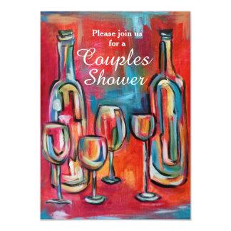 Le vin couple la partie de wedding shower carton d'invitation  11,43 cm x 15,87 cm