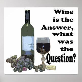 Le vin est réponse, ce qui était la question ?  affiche