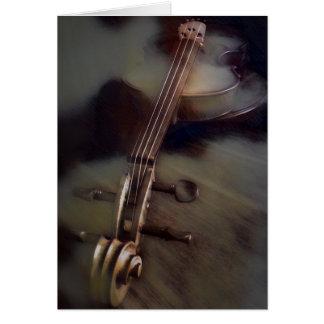 Le violon rêve la carte de note