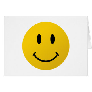 Le visage souriant original carte de vœux