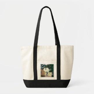 Le visiteur au moulin (huile sur la toile) sac en toile impulse