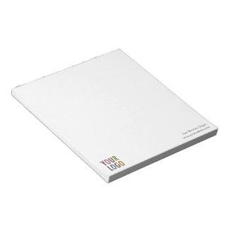 Le volume promotionnel de logo de Custom Notepad Blocs Notes