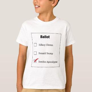 Le vote de zombi d'atout de Hillary badine le T-shirt