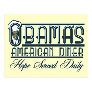 Le wagon-restaurant d'Obama Carte Postale