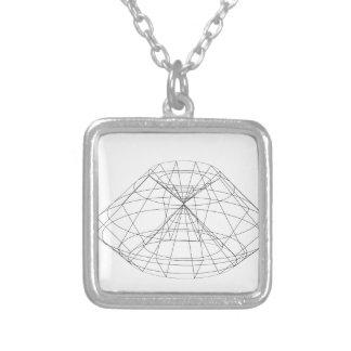 le wireframe 3d rendent l'objet collier