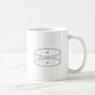 le wireframe 3d rendent l'objet mug