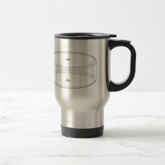 le wireframe 3d rendent l'objet mug de voyage