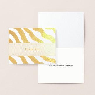 Le zèbre barre le Merci Foil Card