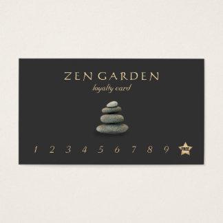 Le zen lapide la carte perforée de fidélité de