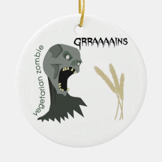 Le zombi végétarien veut Graaaains ! Ornement Rond En Céramique