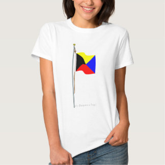 Le zoulou exigent un drapeau de signal nautique de tee-shirt