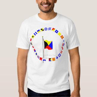 Le zoulou exigent un drapeau de signal nautique de tee-shirts
